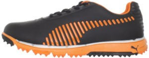 puma faas grip spikeless golf shoe side view orange